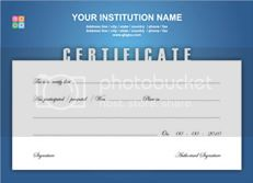 Certificate Template
